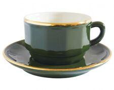 APILCO vert et or Bistro Français ware tasse à café et soucoupe