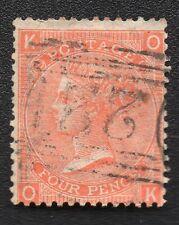 ROYAUME UNI ;GREAT BRITAIN ;4p ; 1865 ; plate 12 ; YT 32 ; Scott 43 / L245