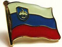 Slowenien Flaggen Pin Anstecker,1,5 cm,Slovenia,Neu mit Druckverschluss