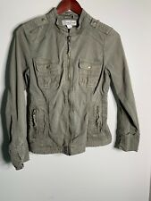 53370b5a2ec97 LUCKY BRAND Womens Green Cargo Jacket Military Size SMALL Zip Up