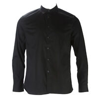 Reaction Kenneth Cole Mens Black Solid Stretch Button Down Shirt $59 NEW