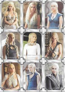 Game of Thrones Iron Anniversary 9 Card DAENERYS TARGARYEN Base Set Puzzle 1-9