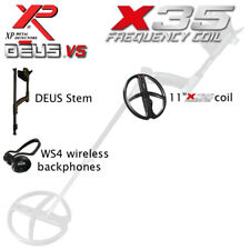 "XP DEUS 11"" X35 coil and WS4 backphones"