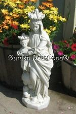 """27"""" OUR LADY OF VICTORY STATUE Mary & JESUS Fiberglass Yard Garden Decor"""
