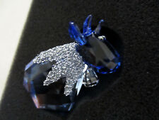 Swarovski LovLots ICE MO Color Crystal Figurine Blue 5166275 NEW in Gift Box $70