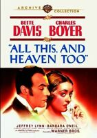 All This, And Heaven Too [New DVD] Manufactured On Demand, Full Frame