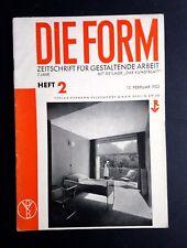Revista de forma Die 1932 Bauhaus interiores de diseño de arquitectura modernista Werkbund
