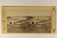 Egitto il Nilo Foto Pascal Sebah Costantinopoli Stereo Vintage Albumina c1865