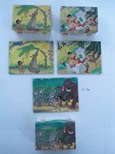 1960's Jaymar Walt Disney 5 Puzzle Lot Original Boxes Jungle Book + Disney Gang