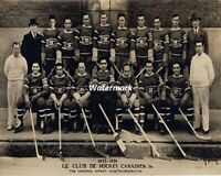 NHL 1923 - 24 Montreal Canadiens Team Picture Black White 8 X 10 Photo Free Ship