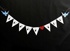 Tattoo Wedding Bunting Thank You Swallows Rockabilly Sailor Jerry Photo Prop