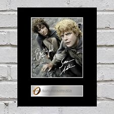 Elijah Wood and Sean Astin Signed Mounted Photo Display Lord of the Rings