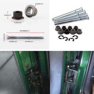 Car Door Hinge Pins Pin Bushing Kit For 1994-2004 Chevy S10 & GMC S15 2 DOOR
