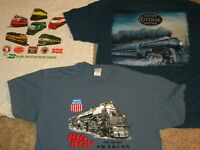 Vtg. Mixed Lot of 3 Railroad Burlington Big Boy Union Pacific Hudson T- Shirt XL