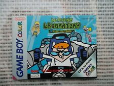 Notice Game Boy Color  / Dexter's Laboratory Robot Rampage manuel Booklet *