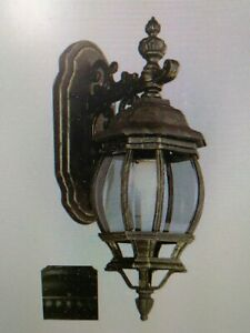 "Trans Globe Lighting 4053 BK Outdoor  Wall Lantern,20"" HIGH,1 MED 100W BULB(20A)"