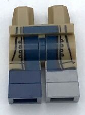 Lego New Dark Tan Hips and Legs with Flat Silver Boot on Left Dark Blue Boot