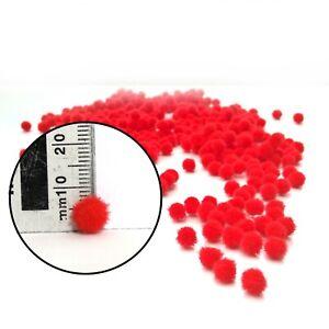 Red Pom Poms 8mm High Quality 50 to 500 Pack Xmas Craft Tiny Reindeer Nose etc
