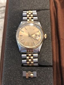 1983 Rolex Datejust 16013 18k Gold, Champaign Dial 36mm SS. FREE SHIPPING