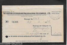 MALAYA 1936 CHINA TELEGRAPH DOCUMENT No 31301