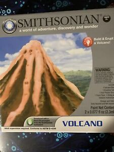 3 Smithsonian Science Labs 1) Volcano 2) Crystal Growing 3) Rock Gem Digs-Sealed