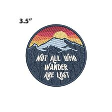 New ListingNot All Who Wander Are Lost - Mountain Embroidered Patch Iron-on/Sew-on Applique
