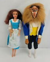 Vintage Disney Mattel Beauty And The Beast Barbie Belle And Beast Doll