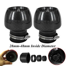 "2x Motorcycle ATV Pipe Air Intake Filter 1.1-1.9"" Inlet Adapter 28-48mm Caliber"