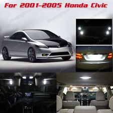 8pcs Interior LED Package+Back Up Lights For 2001-2005 Honda Civic Sedan White