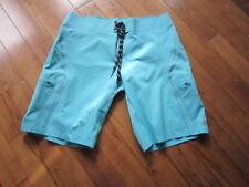 LULULEMON MENS wave board / swim shorts in aqua blue size 34