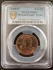 SAC$1 WOUNDED EAGLE MS67