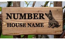 Scottie Dog House Number Name Plaque Plate Personalised Sign Scottish terrier