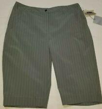 CUTTER & BUCK Annika Golf Shorts, Womens Size 6, Gray, Pinstripes,  Stretch, NEW