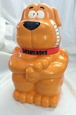 Vintage SNAUSAGES Doggie Treat Biscuit Cookie Jar 1991 Quaker (Does Not Talk)