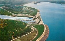 GA~Hartwell Dam~Reservoir~Savannah River~Aerial Shot ~Outdoor Power House~1950s