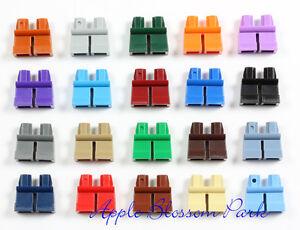 LEGO Lot/20 Minifig SHORT LEGS - Boy Girl Child Dark Red Blue Green Gray Tan Set