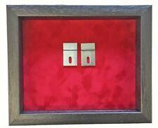 More details for medium fire brigade medal display case. black frame