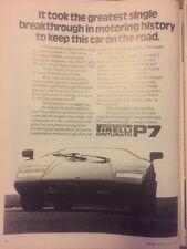 Original 1978 Pirelli P7 Print AD vintage Automobilia Car magazine advertising