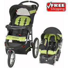 Baby Trend Expedition Jogger Stroller Travel System Electric Lime Infant Buggy