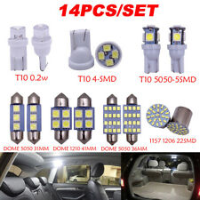 14x LED Interior Package Kit For T10 36mm Map Dome License Plate Light White Set