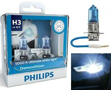 Philips Diamond Vision 5000K White H3 55W Two Bulbs Fog Light Plug Play Replace