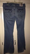 TRUE RELIGION DISCO BIG BALL JEANS, SIZE 31