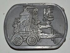 Vintage Fire Response Water Pump Trailer MEC Company Solid Heavy Belt Buckle