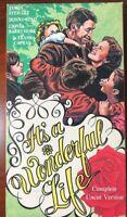 Vintage It's A Wonderful Life VHS Black & White - Produce 1946 Uncut Version