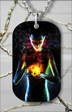 FIRE BALL ALIEN IN FANTASTIC WORLD DOG TAG NECKLACE PENDANT FREE CHAIN -dkj9Z