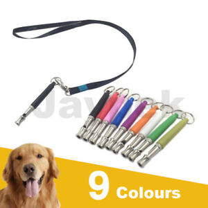Dog Puppy Training Whistle Silent Ultrasonic Sound Pitch Adjustable 9 Colors