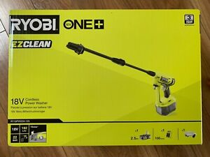 Ryobi RY18PW22A 18V ONE+ Cordless 22bar Power Washer + 2.5Ah Battery + Charger
