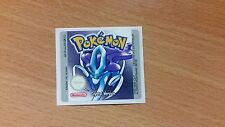 Gameboy Pokemon Crystal Replacement Label Decal Sticker Nintendo Cartridge