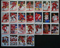 1990-91 Upper Deck UD Detroit Red Wings Team Set of 25 Hockey Cards