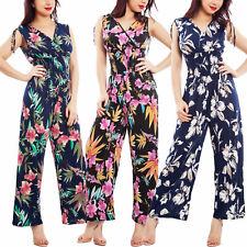 Overall donna tuta intera floreale scollata pantaloni elegante TOOCOOL AL-8742